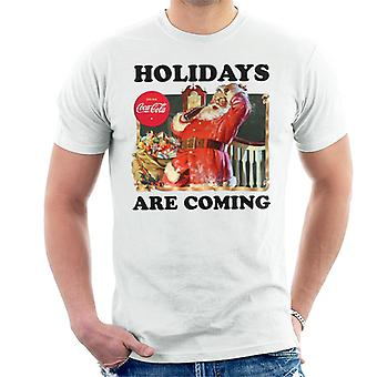 Coca Cola Christmas Holidays Are Coming Santa Men's T-Shirt