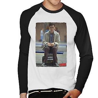 American Pie Paul Sitting Alone Men-apos;s Baseball Long Sleeved T-Shirt