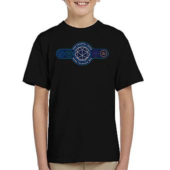 The Crystal Maze Logo Coloured Symbols Kid's T-Shirt