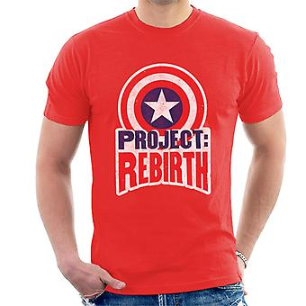 Marvel Captain America Projeto Renascimento Men 's T-Shirt