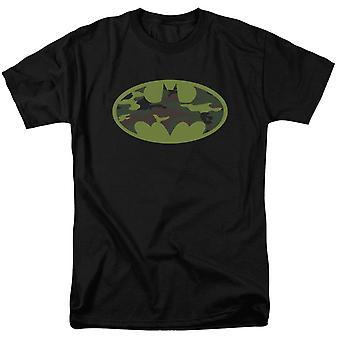 Batman Camo Symbol on Black Men's T-Shirt