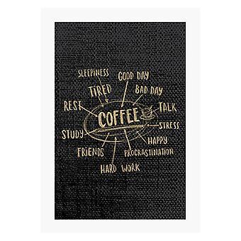 Motivi per bere caffè A4 stampa