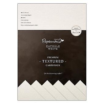Papermania A4 Premium Cardstock Textured White (20pcs) (PMA 1641500)