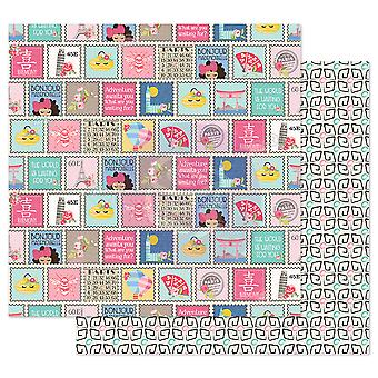 Prima Marketing Traveling Girl 12x12 Inch Paper Pack Write me soon