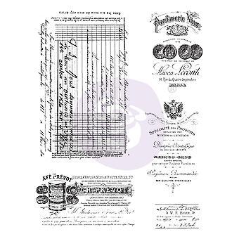 "Finnabair Cling Stamps 6 ""X7.5"" - Gammalt pappersarbete"