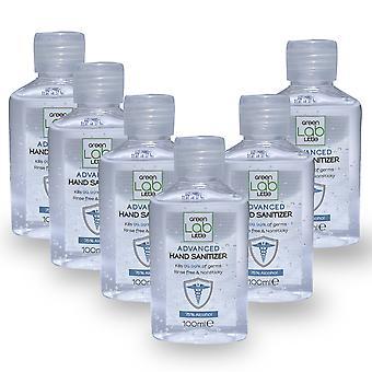 Hand Sanitiser Gel 75% Alcohol 100ml 99% Anti-bacterial(Pack of 6)
