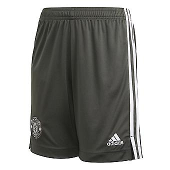 adidas Manchester United 2020/21 Kids Away Football Short Khaki