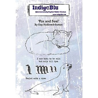 IndigoBlu Fox and Seal A6 Rubber Stamp
