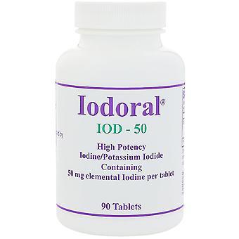 Optimox, Iodoral, 50 mg, 90 Tablets