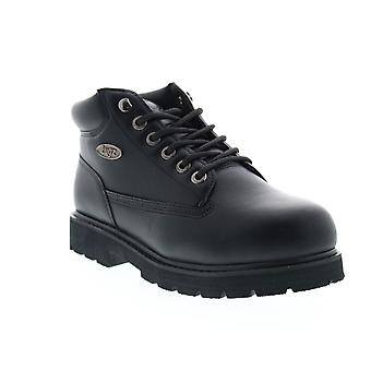 Lugz Drifter Mid Steel Toe Mens Black Wide 2E Lace Up Ankle Boots