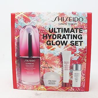 Shiseido Ultimate Hydrating Glow Set 4 Pcs Gift Set  / New With Box
