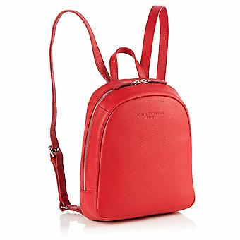 Poppy Mini Leather Backpack in Red Richmond Chrome Free Leather