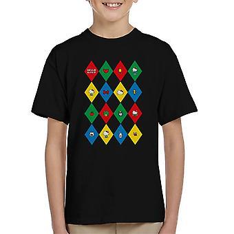 Hello Kitty Multicoloured Diamond Icons Kid's T-Shirt