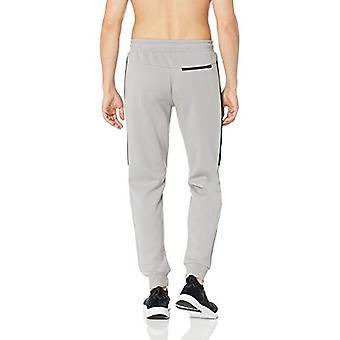 Peak Velocity Men's Stretch Spacer Fleece Athletic-Fit Jogger Sweatpant, Stee...