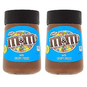 2 x 350g M&M Crispy Hazelnut Chocolate Spread Sandwich Cake Topping Baking