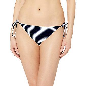 Essentials Women's Side Tie String Bikini Swimsuit Bottom, Navy Stripe...