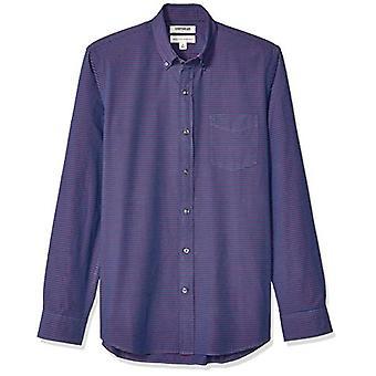 Goodthreads Miehet&s Standard-Fit pitkähihainen poplin paita, navy punainen vaakasuora raita, XX-suuri