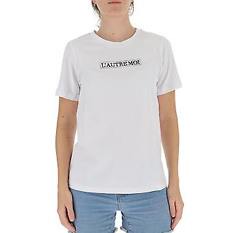 L'autre Koos B1550204090u006 Women's White Cotton T-shirt