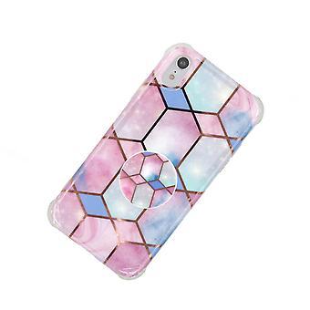 Stoßfestes Mobile Case mit Halter, für iPhone XR - Pink/Blue