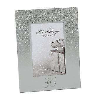 "Widdop & Co. Birthdays By Juliana 30th Birthday Glitter Mirror 4 X 6"" Photo Picture Frame"