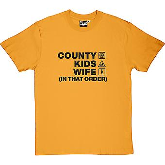County Kids Wife (In That Order) Yellow Men's T-Shirt
