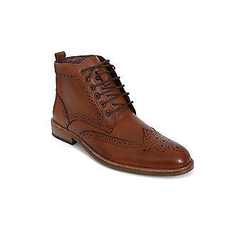 Cavani Cavan Holmes Tan Brouge Leather Boot