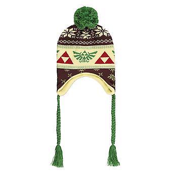 Zelda Sherpa Beanie Hat Hyrule Logo nouveau Officiel Unisex Laplander