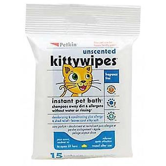 Kitty ongeparfumeerde 15pk veegt (Petkin)