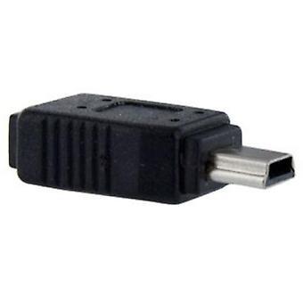 StarTech USB 2.0 Micro-B (F) auf USB 2.0 Mini-B (M) Black Retail Packaged Data Adapter