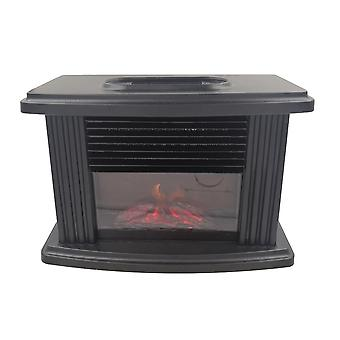 Electric Fireplace Heater Remote Control Tabletop Warmer Simulation