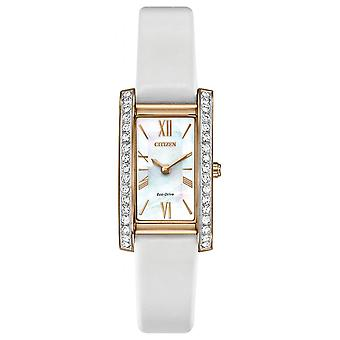 Citizen Ladies Eco-Drive Silhouette Crystal Watch EX1473-02D