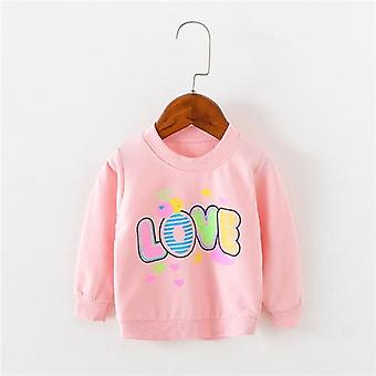 Lawadka Brand Love Pattern Long Sleeve Tops Autumn Clothing Baby Girls Sweat T-shirts