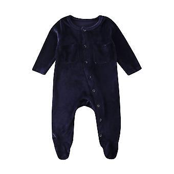 Baby Zomer kleding, Fluweel, Lange Mouw Jumpsuit Outfits
