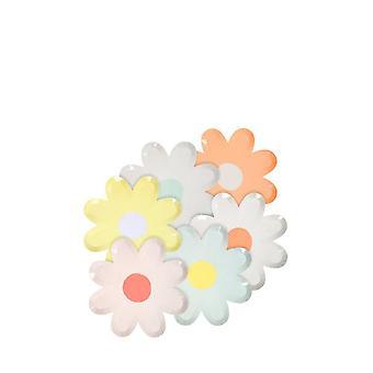 Meri Meri MINI Colourful Daisy Canape Paper Party Plates x 12