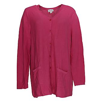 Joan Rivers Classics Collectie Women's Plus Sweater Pink A347327