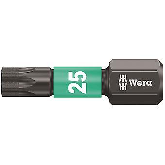 Wera 867/1 Impaktor Indsæt Bit Torx TX25 x 25mm Carded WER073925