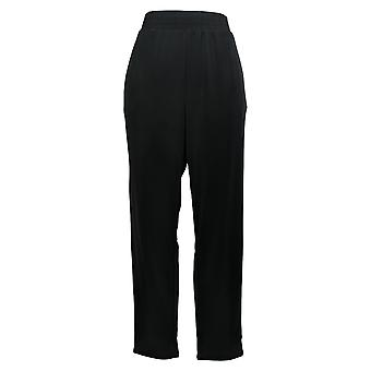 IMAN Global Chic Women's Pants Ankle Length With Pockets Black 694-940