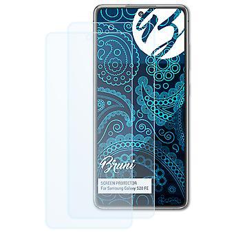 Bruni 2x -näytönsuoja yhteensopiva Samsung Galaxy S20 FE -suojakalvon kanssa