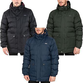 Trespass Herren Specter gepolstert Full Zip wasserdicht Kapuze warm Puffer Jacke Mantel