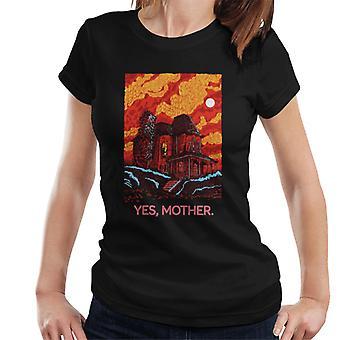 Psycho Bates Home Sí Mother Women's Camiseta