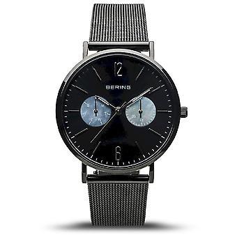 Bering kvinnors klocka Klassisk svart blank 14236-123