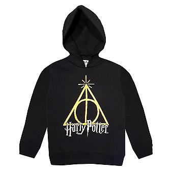 Harry potter kids (5-12) hoodie sweatshirt - triangle hp071hod