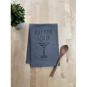 Keep Your Gin Up Dish Towel