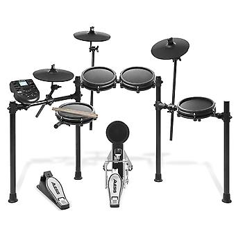 Alesis drums nitro mesh kit - eight piece mesh electric drum set with 385 electronic / acoustic drum