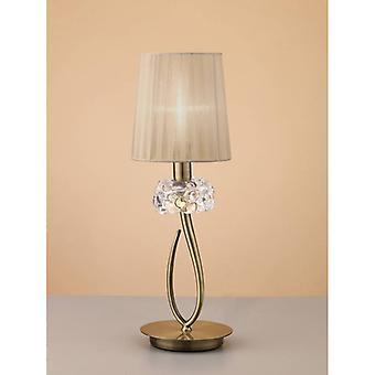 Loewe Tafellamp 1 Bol E14 Klein, Antiek Messing met bronzen tint
