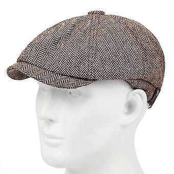 Uuden muodin ruudullinen baretti monipuolinen klassikko, jossa on hieman elastiset hatut
