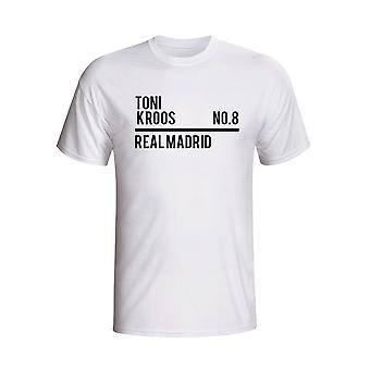 Toni Kroos Real Madrid truppen T-shirt (vit)