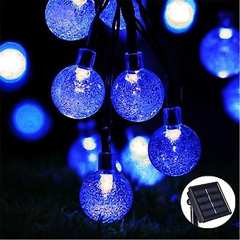 Solar Lamp Crystal Ball Led String Lights Flash Waterproof Fairy For Outdoor