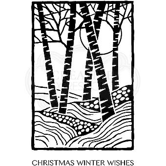 Woodware Clear Stamps - Lino Cut Birch Trees