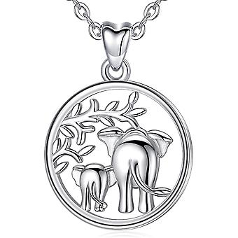 Silver Elephant Necklaces for Women, Aeonslove 925 Sterling Silve Necklace